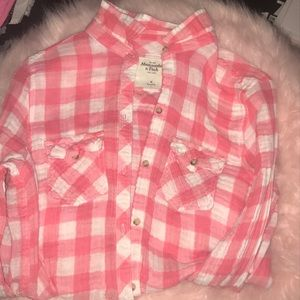Abercrombie and Fitch pink button down shirt